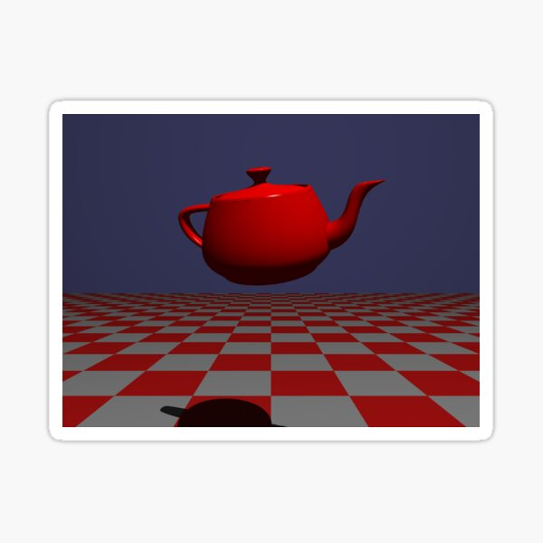 Tea Pot: POV RAY CGI! Sticker