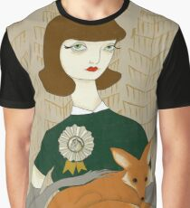 Woman with Fox Graphic T-Shirt