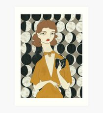 Moon Phases Woman Art Print
