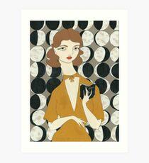 Moon Phases Woman Art Print