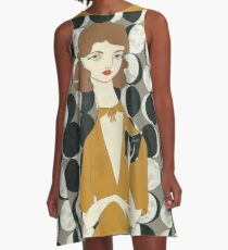 Moon Phases Woman A-Line Dress