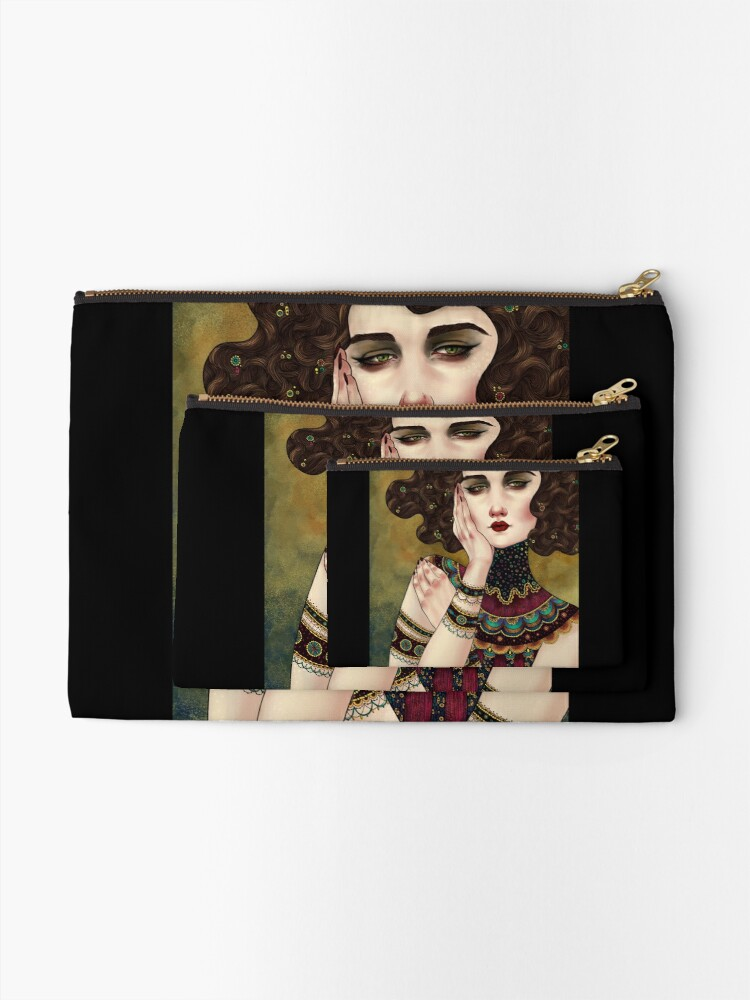 Alternate view of Klimt Muses 5 Zipper Pouch