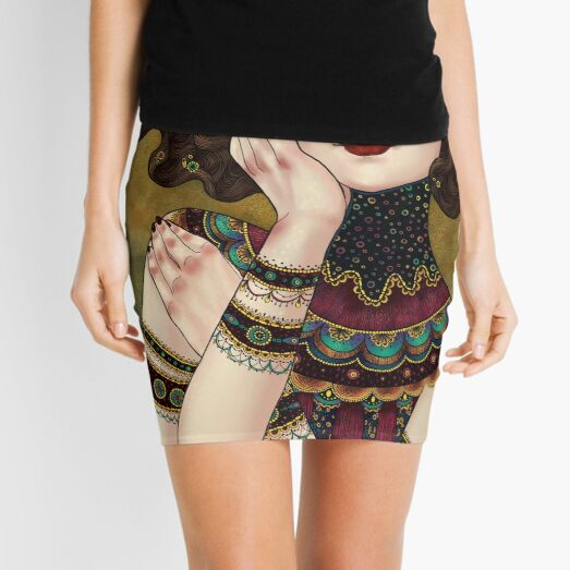 Klimt Muses 5 Mini Skirt