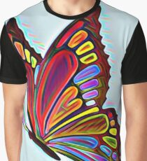 Colorful Abstract Butterfly Art Graphic T-Shirt