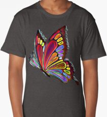 Colorful Abstract Butterfly Art Long T-Shirt