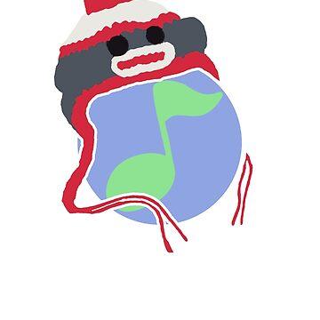 Gishwhes Choir: Sock Monkey Planet by LCerezo