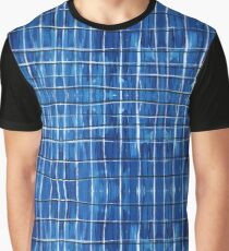 Blue Plaid Graphic T-Shirt