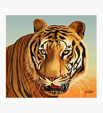 Painting of Hoover, Tiger at Big Cat Rescue, Tampa, FL by JoAnn Weiss Photographic Print