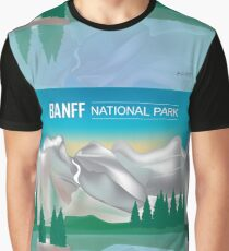 Banff National Park - Skyline Illustration by Loose Petals Graphic T-Shirt