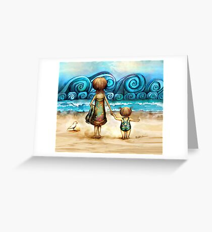Beachcombers Greeting Card