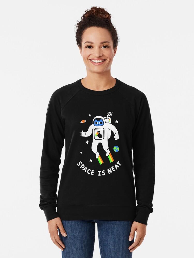 Alternate view of Space Is Neat Lightweight Sweatshirt