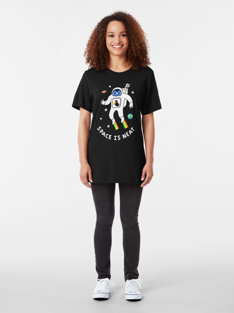 Alternate view of Space Is Neat Slim Fit T-Shirt
