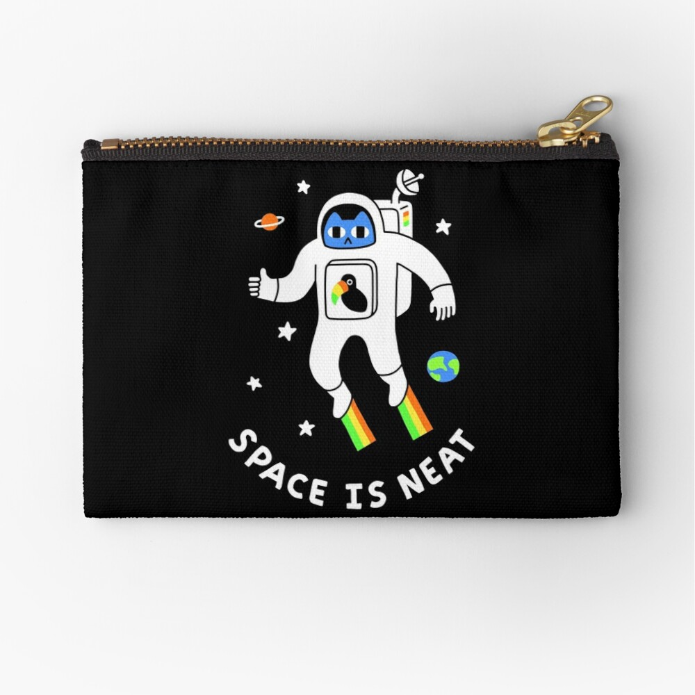 Space Is Neat Zipper Pouch