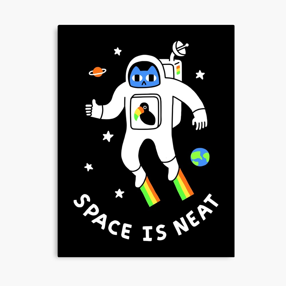 Space Is Neat Canvas Print
