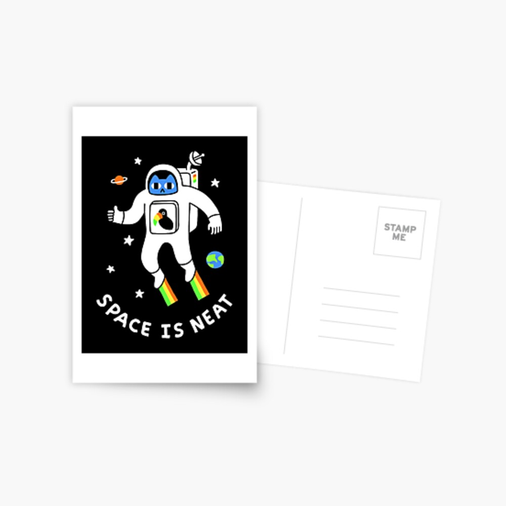 Space Is Neat Postcard