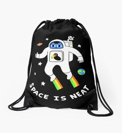 Space Is Neat Drawstring Bag