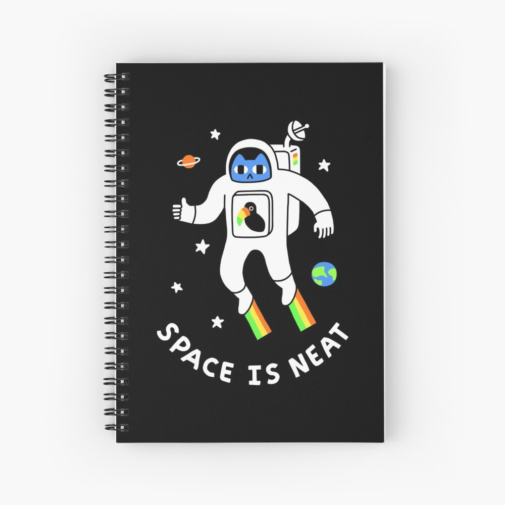 Space Is Neat Spiral Notebook