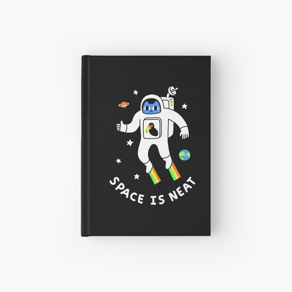 Space Is Neat Hardcover Journal