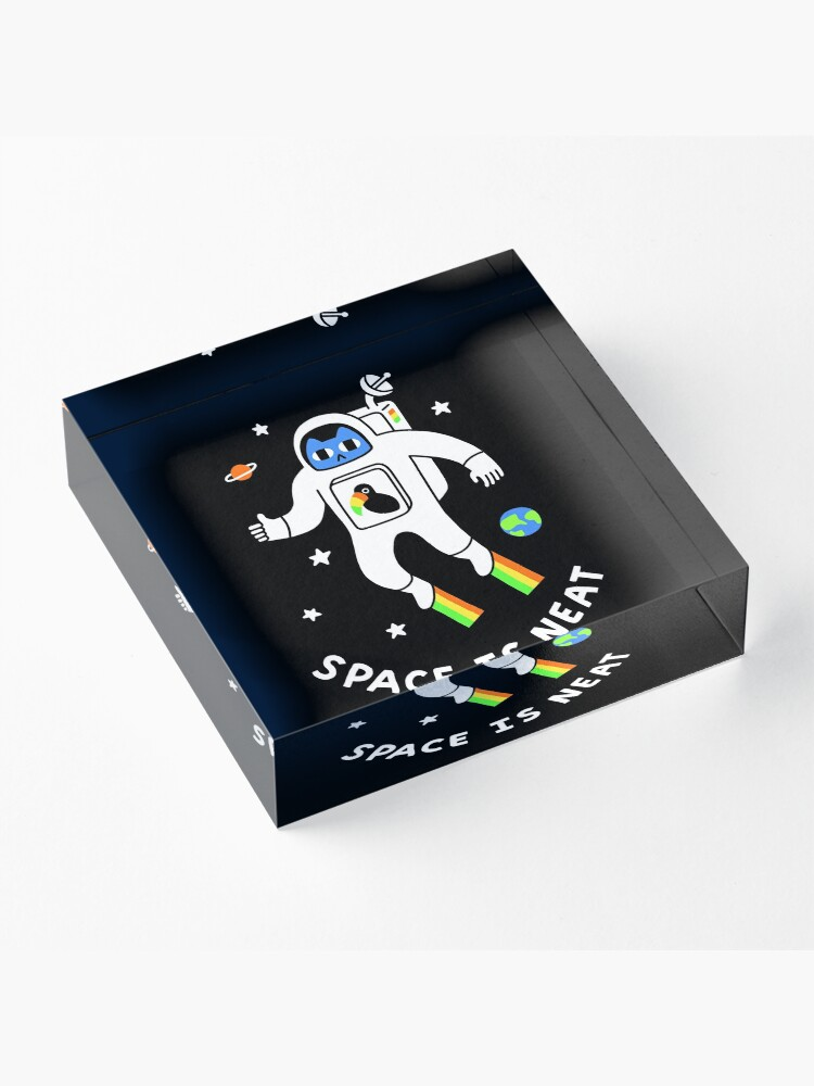 Alternate view of Space Is Neat Acrylic Block