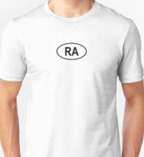"Argentina ""RA"" Country Code Unisex T-Shirt"
