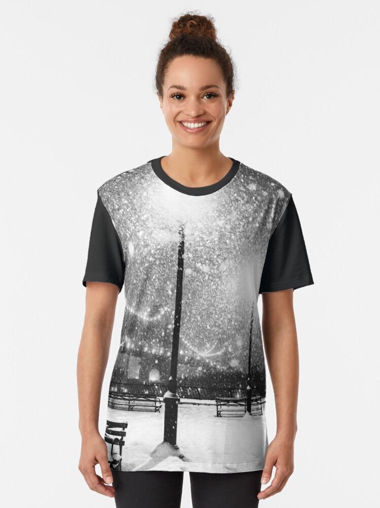 Alternate view of New York City Snow Graphic T-Shirt