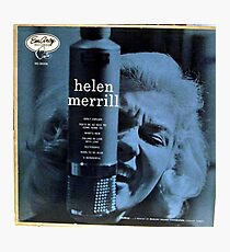 Helen Merrill,singer, microphone, bop, jazz, 50's Photographic Print