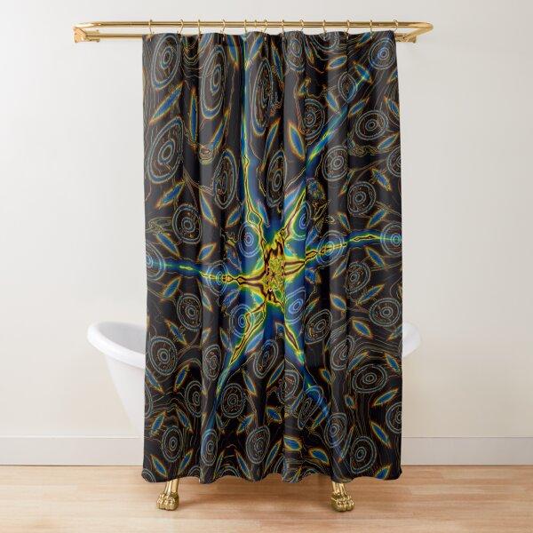 Iridescent Stars 4 Shower Curtain