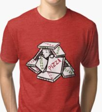 pizza box fort Tri-blend T-Shirt