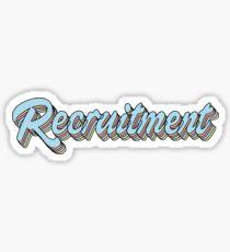 Recruitment Sticker