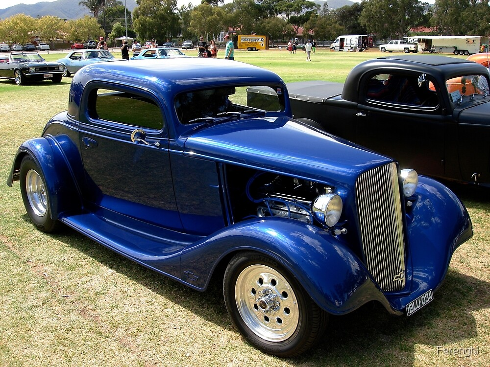 1934 Blue Chevrolet Hot Rod by Ferenghi