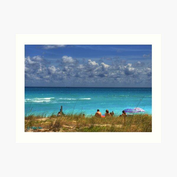 Watching the Surf Art Print
