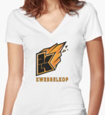 kwebbelkop logo youtube video game yt  Women's Fitted V-Neck T-Shirt
