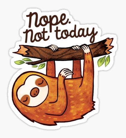 Sloth Nope Sticker