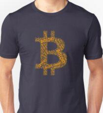 Men's Bitcoin Revolution Block Chain Crypto Word Shirt Style #2  T-Shirt