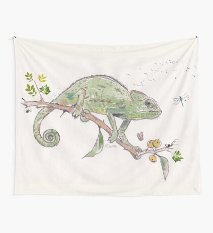 The colourful world of Chameleons Wall Tapestry