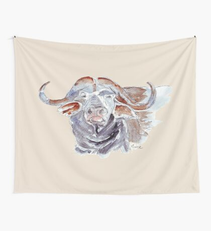 African buffalo or Cape buffalo (Syncerus caffer) Wall Tapestry