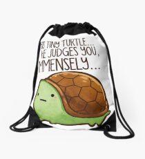 Diese Schildkröte .. er beurteilt dich. Turnbeutel