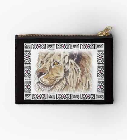 Lodge décor - African lion Zipper Pouch