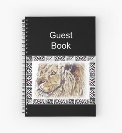 Lodge décor - African lion Spiral Notebook