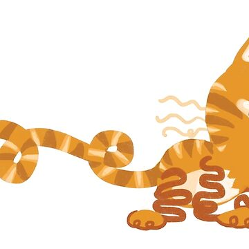Squiggle Orange Tabby Cat by Paigekotalik