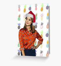 Clara Oswald, Christmas - Doctor Who | #InfiniteTARDISMerch Greeting Card
