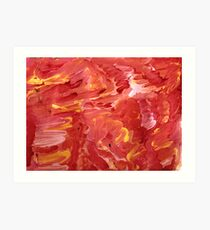 Red with Yellow Streaks Art Print
