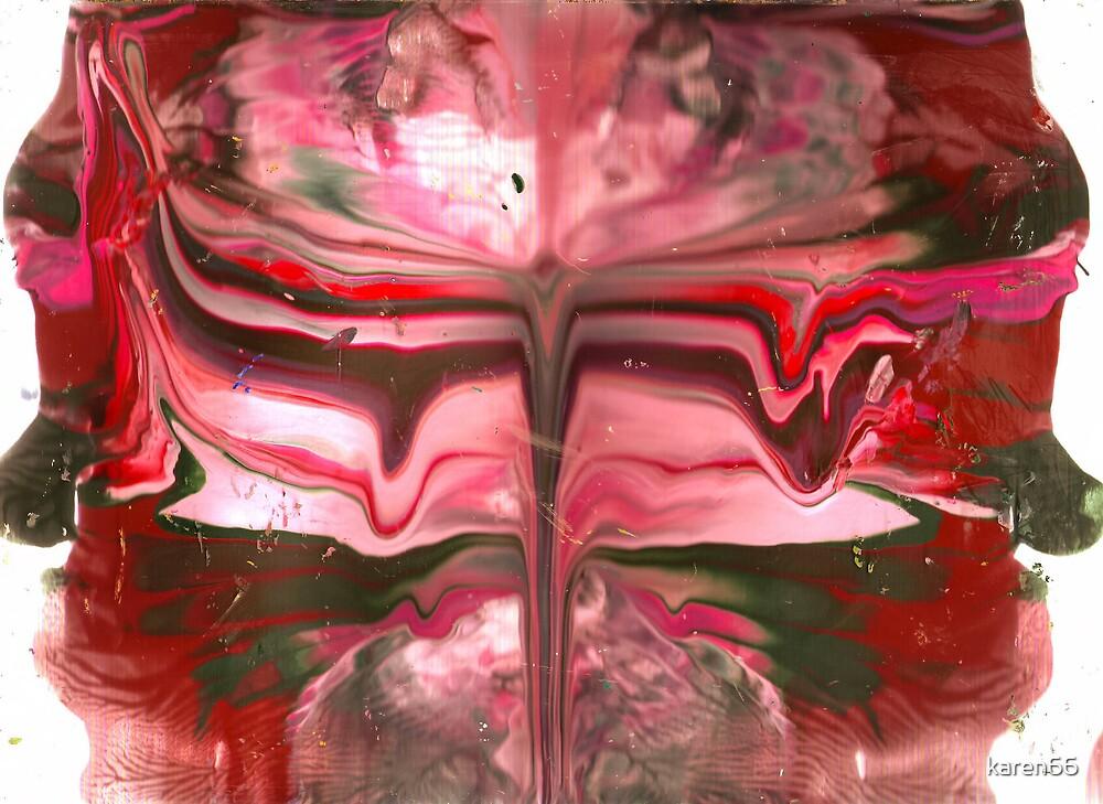 Red and Pink Mandala by karen66