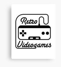 retro videogames Canvas Print