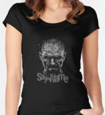 Unique Breaking Bad Logo Women's Fitted Scoop T-Shirt