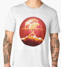 Nuclear Explosion. Say no to war Men's Premium T-Shirt