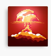 Nuclear Explosion. Say no to war Canvas Print