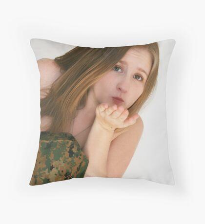 Troop Kisses Throw Pillow