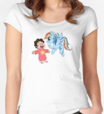 You're not a pony! Women's Fitted Scoop T-Shirt