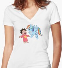 You're not a pony! Women's Fitted V-Neck T-Shirt